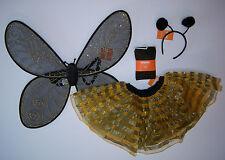 NWT Gymboree Bumble Bee Costume M 7-8 Tutu Skirt Antenna Wings & Glitter Tights