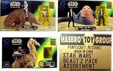 Star Wars Beast Wars Han Solo w Jabba & Ronto w Jawa  & Sandtrooper w Dewback