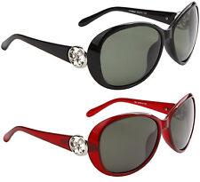 Nuevo Gafas de Sol Polarizadas Mujer Diseño Negro Driving Vintage Envolvente