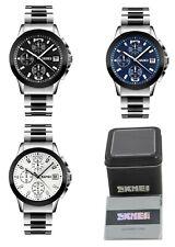 SKMEI Men Quartz Stainless Steel Waterproof Wrist Watch w/ Box & Warranty Card
