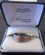 Harley-Davidson Men's Orange Etched Ring by Stamper