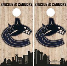 Vancouver Canucks Cornhole Wrap NHL Game City Skyline Skin Vinyl Decal CO911