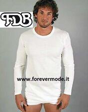 T-shirt homme FDB à manches longues coton sur le cuir et lana soldes art 039 ML
