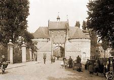 Tirage photo ancienne XIXe Ville de Bruges Brugge Porte Smedenpoort
