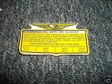 1955 - 1959 AMERICAN MOTORS AMC RAMBLER AIR CLNER DECAL