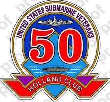 STICKER USN SUBMARINE HOLLAND CLUB