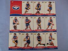 2013 SELECT CHAMPIONS AFL CARDS WESTERN BULLDOGS  BASIC TEAM SET