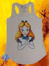 New Disney Alice In Wonderland Watercolor Alice Girls Tank Top T-Shirt