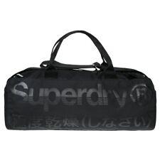 New Mens Superdry Black Trackmaster Polyester/Viscose Duffle Bag Duffles