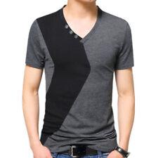 Men 2018 T Shirts Stylish Short Sleeve tshirt V-Neck T-Shirt Brand New Tee Tops