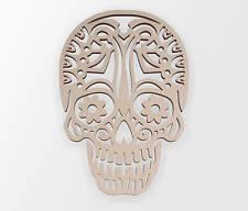 Wooden Shape Tribal Sugar Skull, Wooden Cut Out,Wall Art,Home Decor,Wall Hanging