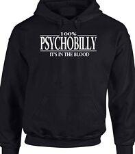 Psychobilly Hoody T-Shirt Sweater 100% Skin Head It's In The Blood Hoodie Punk