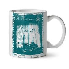 St. Thomas Ship Vintage NEW White Tea Coffee Mug 11 oz | Wellcoda