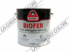 BOERO BIOFER - 2,5 lt - BIANCO/GRIGIO/ARANCIONE - FONDO ANTIRUGGINE UNIVERSALE