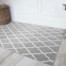 Trendy Designer Neutral Cheap Trellis Taupe Grey Big Living Room Runner Rug