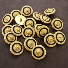 6 9 12 OR 20 black gold tone lion face designer style shank buttons design 22mm