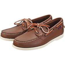 Sebago Docksides Portland Mens Leather Boat Deck Shoes Brown Size 8-12