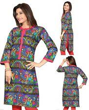 Indian Bollywood Ethnic Cotton Printed Kurti Tunic Dress Kurta for Ladies 360