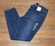 Sonoma Stretch Jeans Skinny Leg Dark Wash Denim Jeans Mid Rise Slim hip thigh
