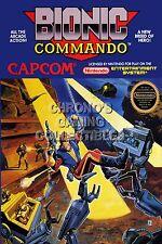 RGC Huge Poster - Bionic Commando Original Nintendo NES BOX ART - NES066