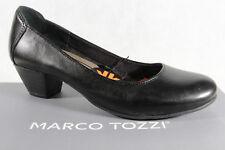 Marco Tozzi Zapatos De Tacón Zapatillas de Bailarina negras NUEVA
