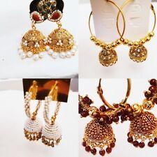 Ladies Dangle Earrings Indian Accessory Fashion Jewellery Elegant Jhumka Jhumki