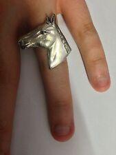 TESTA di cavallo pp-e09 Peltro Inglese Anello regolabile fatto a mano in Sheffield