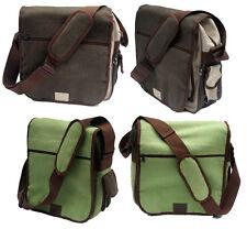 Canvas Messenger Man Bag Shoulder cross Body laptop lot School College Work uni