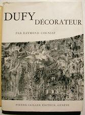DUFY/DECORATEUR/R.COGNIAT/ED CAILLER /GENEVE/1957/