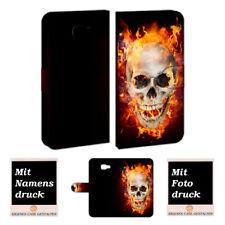 Samsung Galaxy c5 funda móvil bolso con muertos cráneo-fuego foto presión de texto