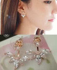 2 Way Wear Earring/Crystal leave Drop earring/RGE624