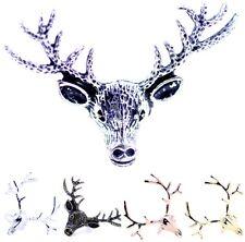 Art Deco vintage style reindeer deer head ring, 6 designs