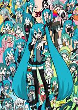 Hatsune Miku Vocaloid música Anime Juego ham02 Poster A4 A3 Compre 2 obtenga 3 Libre