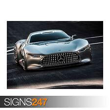 MERCEDES BENZ AMG VISION GRAN TURISMO (0165) Car Poster - Poster A0 A1 A2 A3 A4