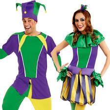 Carnevale Da Giullare Adulti Costume Circo Clown Divertente Donna Uomo Costume Outfit