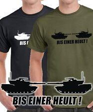 Fun T-Shirt BIS EINER HEULT PANZER TANKS * World of  War * Panther T-34 Tiger1