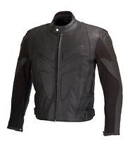Men Motorcycle Biker Leather Jacket Full Zip out Liner CE Armor Black MBJ06