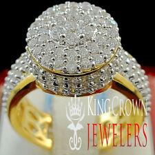 Silver Lab Diamond Wedding Engagement Band Ladies Bridal Ring Real Yellow Gold