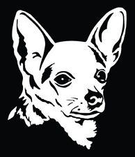 Chihuahua iPad Vinyl Car Window Decals Sticker I Love My Rescue Mom Macbook