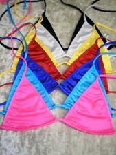 Triangle Bikini Tops/7-pack/Mix-N-Match Swimsuit/Surfer/Stripper/Made in USA/S-M
