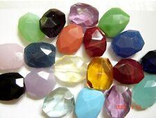 Chacedony Glass Quartz, Crystal Glass Quartz Faceted Nugget Pendant