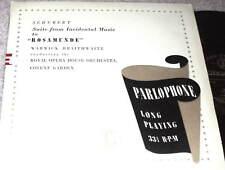 "SCHUBERT Rosamunde RARE UK PARLOPHONE 10"" LP PMD-1027"