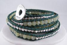 Chan LUU Olive Jade Turquoise Wrap Bracelet NEW
