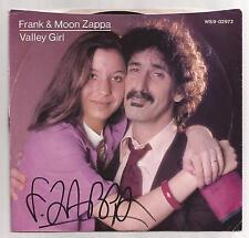 FRANK ZAPPA -SIGNED VALLEY GIRLS '45 SLEEVE w/ VINYL ** RARE **