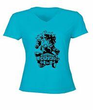 Izuku Midoriya & My Hero Academia Symbol Womens / Juniors Top Tee V-Neck T-Shirt