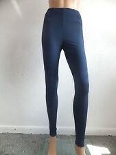 Nuevo ex-chainstore señoras legging/trousers A Rayas Con Paneles Negro O Azul Uk 8-20