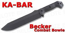 Ka-Bar KaBar Knives Becker Bowie Fixed Blade Plain With Sheath  BK9 0009 *NEW*