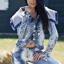FOGGI Damenjacke Jeans Jacke Jeansjacke Übergangsjacke Blazer 34 36 38  #F46
