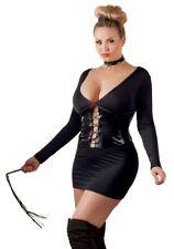 Sexy Kleid mit Taillenmieder Minikleid Lack Look Wetlook  Plus Size XL - 4XL