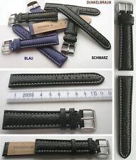 ECHT HAIFISCH LEDERARMBAND Auswahl: Schwarz, Blau, Dunkelbraun 18, 20, 22, 24 mm